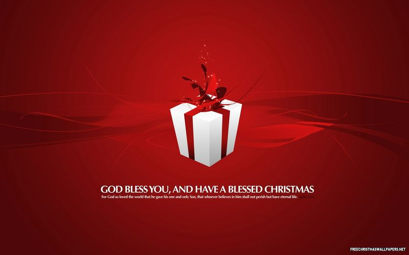 Red-Present-Christmas-Card-691493