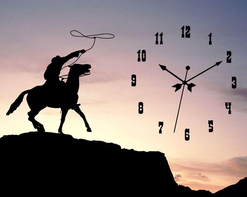 45605cowboy-clock