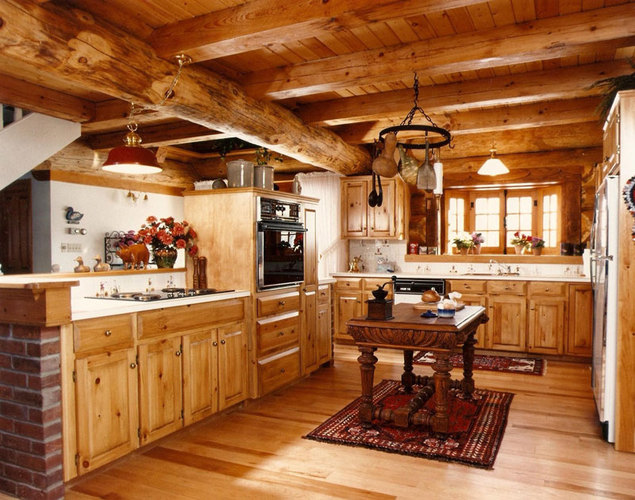 Rustic-Home-Decorating-Ideas-Wood-Kitchen
