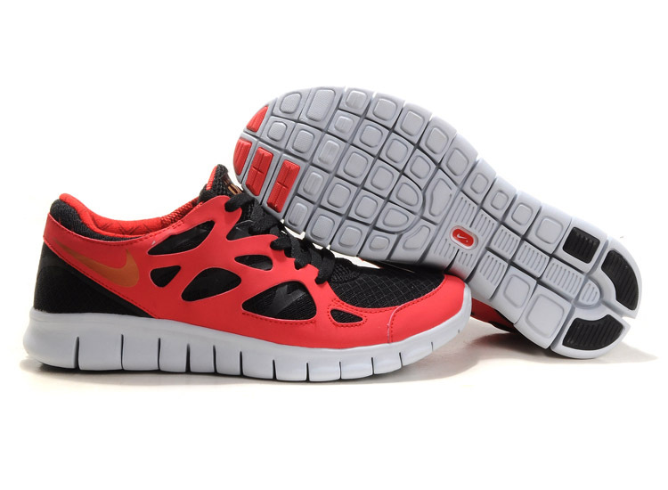 Boys-Nike-Free-Run-2-Running-Trainers-Red-Black