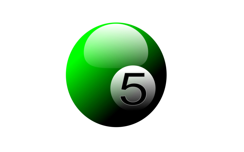 Green-number-5-pool-ball