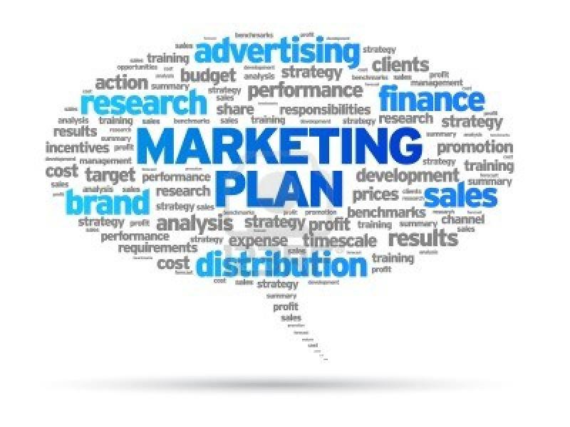 Marketing-plan-speech-bubble-illustration-on-white-background