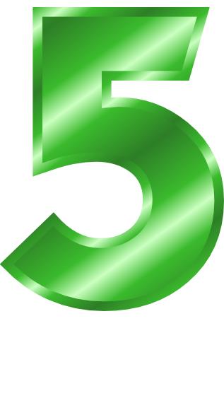29-green_metal_number_5