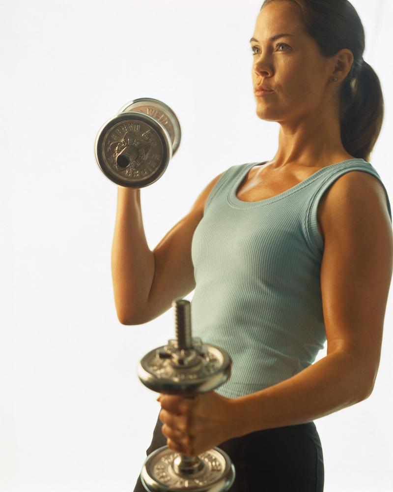 Weighttraining woman