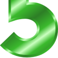 29-green_metal_number_5