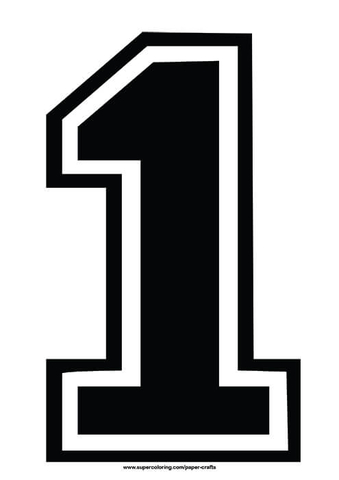Black-football-shirt-number-1-template-paper-craft